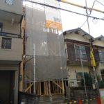 京都市山科区K様邸新築工事~棟上げが始まりました!金物取付を行います!~