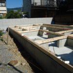 京都市山科区U様邸新築工事!土台敷き、棟上げ・上棟始まりました!本格的に大工工事が始まります!