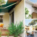 LIXIL 強い日差しや紫外線から室内空間を守り、テラスやバルコニーに心地よい日陰をつくるオーニングのある住まいのご紹介です。