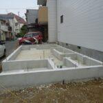 京都市西京区M様邸新築工事!3階建ての新築工事始まります!解体工事・基礎工事です。